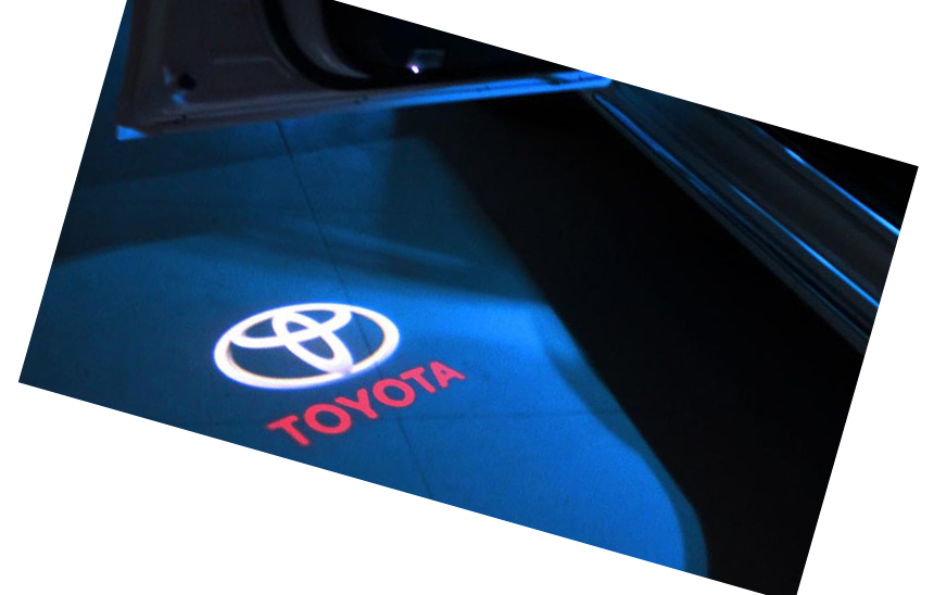 Toyota logo projected